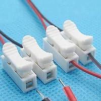 Queta - Abrazadera de cable de conexión rápida para terminales de cableado, tipo de empuje