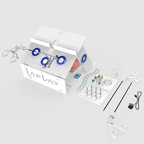 Laparoskopische Box Trainer Chirurgie Kit Gesetzt Simulierter Trainings Chirurgische Ausrüstung Medizingerätetrainer Beinhaltet Instrumente Mit Nahtpolster Und 1080 HD Straight-Bar-Kamera