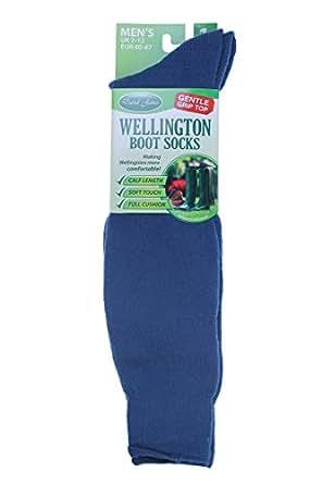 David James Mens Wellington Boot Socks David James Size 7-12 Welly Gardening Thick Blue