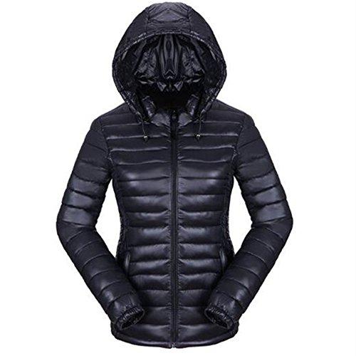 eee8bd42bac5 Newbestyle Femme Hiver Doudoune Ultra Légère Veste Manteau à Capuche Chaud  Courte Zippée Parka Blouson