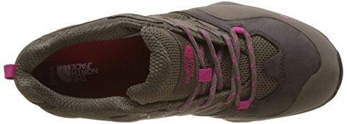 The North Face Hedgehog Hike Gore-Tex, Chaussures de Randonnée Basses Femme Multicolore (Falcon Brown/cabaret Pink)