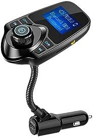 FM Transmitter Nulaxy Wireless In-Car Bluetooth FM Transmitter Radio Adapter Hand Free Car Kit With USB Car Ch