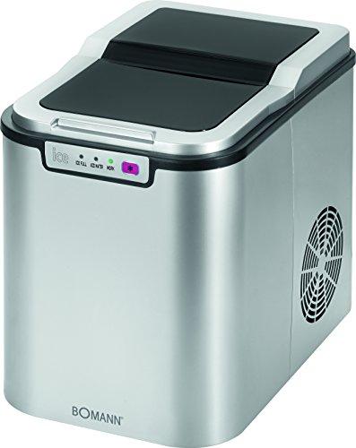 Bomann EWB 1027 CB - Máquina para hacer cubitos de hielo, 10-15 kg, 24 horas, color plateado
