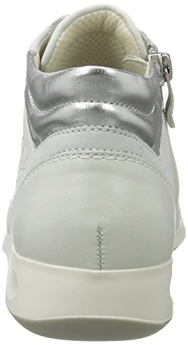 ara Damen Rom-Stf 12-34409 Hohe Sneaker Weiß (weiss,offwhite/silber)