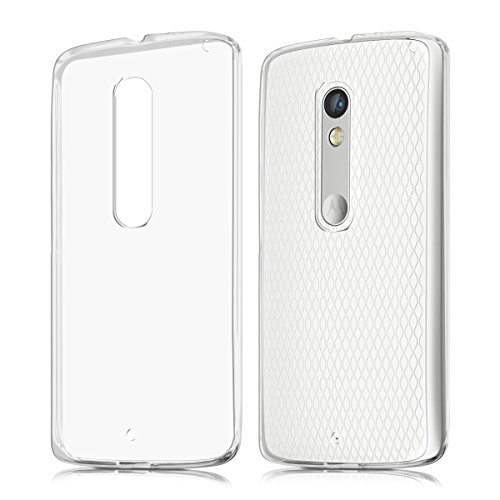 kwmobile Motorola Moto X Play Hülle - Handyhülle für Motorola Moto X Play - Handy Case in Transparent