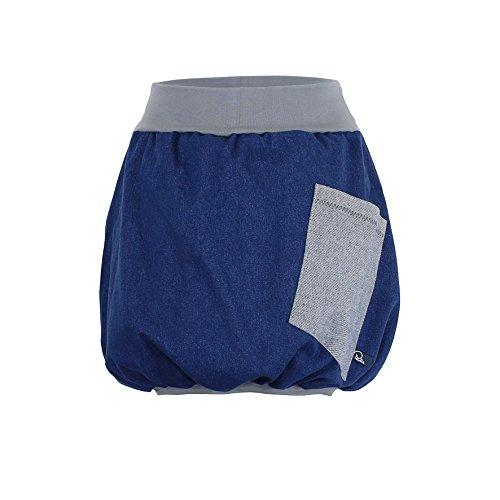 Minirock PAULIZ - blauer Damen Ballon-Minirock aus Jeans