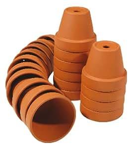 set 5 pz .vasetti terracotta 5 cm