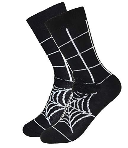 EveryKid Ewers Jungensocken Markensocken Socken Strümpfe Söckchen Kleinkind ganzjährig Halloween Spider für Kinder (EW-201111-W18-JU3-1988-31/34) in Schwarz, Größe 31/34 inkl Fashionguide