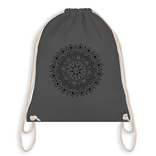 Boheme Look - Boho Mandala Yoga Sketch - Unisize - Dunkelgrau - WM110 - Turnbeutel I Gym Bag