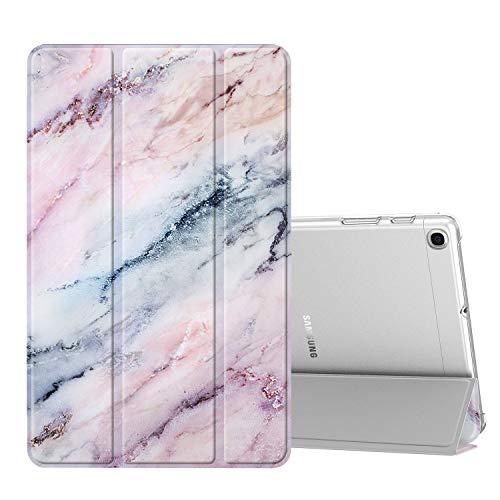 Fintie Hülle für Samsung Galaxy Tab A 10,1 SM-T510/T515 2019 - Ultradünn Schutzhülle mit transparenter Rückseite Abdeckung Cover für Samsung Galaxy Tab A 10.1 Zoll 2019 Tablet, (Z-Marmor Rosa)