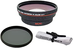 82mm Circular Polarizing Filter High Definition Nw Direct Micro Fiber Cleaning Cloth + Rings 49, 55 /& 62 0.5X Wide Angle Lens with Macro Sony Alpha SLT-A65 HD