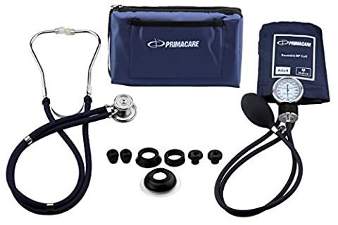Primacare Medical Supplies DS-9181 Blue Professional Blood Pressure Kit with Sprague Rappaport
