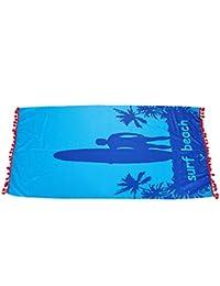 TOOGOO Microfibra Patin Hombre y Playa Azul Cuerpo Yoga Mat Viajes del Colgante de Pared Bano