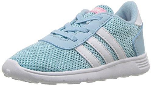 adidas Originals Girls' Lite Racer Inf Sneaker, Ice Blue/White/Energy Aqua, 4 Medium US Toddler (Toddler Sneaker Adidas)