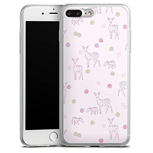 Apple iPhone X Slim Case Silikon Hülle Schutzhülle Reh Rosa Wald Silikon Slim Case transparent