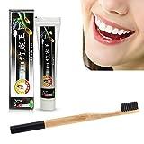 Navigatee Aktivkohle Bambuskohle Zahnpasta & Zahnbürste Set 2-teiliges Zahnweiß-Kit für die Mundpflege