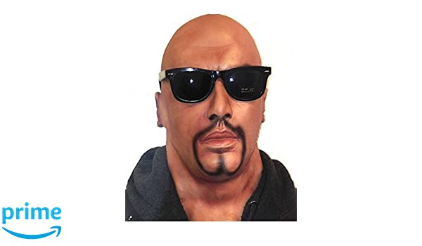 603f2ddb012bab Le caoutchouc plantation TM 619219294027 Tête complète réaliste Homme  Masque avec barbe bouc et lunettes en