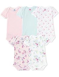 Petit Bateau Baby-Mädchen Body Mc_23531, 5er Pack