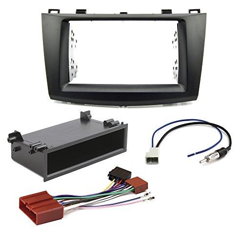 Conjunto de instalación de radio para Mazda 3BL a partir de 2009doble DIN de radio + Estante + Adaptador Antena de radio