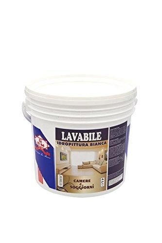 GDM-Lavabile, Idropittura Ideale Per Camere E Soggiorni, Colore: Bianco, 4 litri