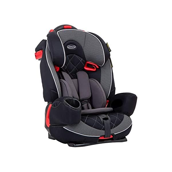 Graco Nautilus Elite Harnessed Booster Car Seat Group 1/2/3, Lunar Graco 2-in-1 convertible car seat for children 9 to 36kg (approx. 9 months to 12 years) From toddler to big kid, nautilus elite grows with your child; the no-rethread harness allows you to easily adjust the harness and headrest together Convenient one-hand height and width adjustable headrest 1