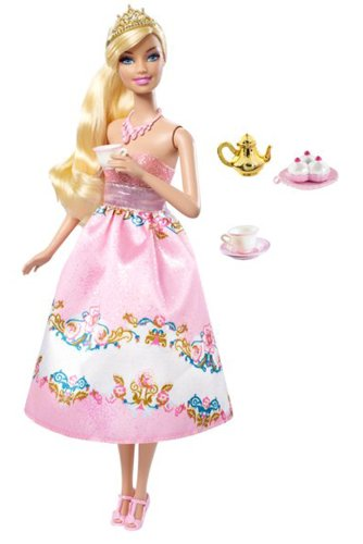Tee Barbie Party (Barbie t7370 – Puppe Ankleidepuppe Tea Party – Blonde)