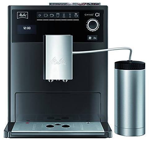 Melitta E970-205 Eleganter Kaffeevollautomat Caffeo CI Special Edition, Isolier-Milchbehälter, 15 bar, Hochglanz-Lackierung in Edelstahloptik