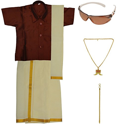 Preethi Dresses Boys' Art Silk Dhoti Set (PDBBB001_Maroon _ 06-12 Months)
