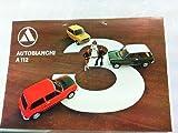 Autobianchi A 112. Beiliegend ein Werbeblatt zum Autobianchi A 112 Abarth.