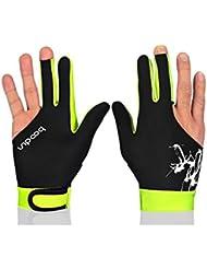 DISTINCT® Unisex Snooker billar tres dedos guantes profesionales moda billar accesorios sólo 1 pc