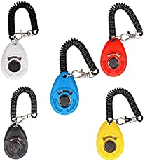 SRI Pet Training Clicker with Wrist Strap for Dog, Cat, Kitten, Puppy, Birds (White)