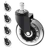 Herrman 10 mm Stelo Chair Caster Wheel Replacement Proteggere Pavimenti in Legno Duro per Ikea Ufficio sedie | 10 mm x 22 mm