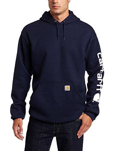 Carhartt Herren-Sweatshirt mit Kapuze, mittelschwer, langärmelig, mit Logo, K288 Gr. L, Navy (Closeout) -