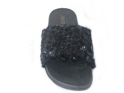 SKOS , Tongs pour femme Black (F3)