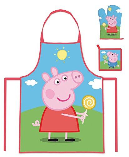 1153601pea102466set cucina, grembiule, guanto e presina, composito, multicolore, 25x 20x 7cm