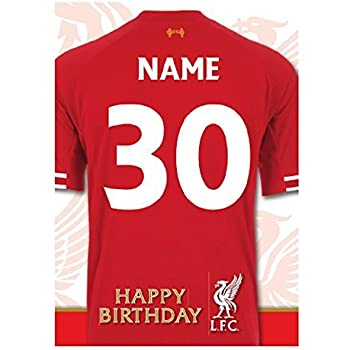 Liverpool fc birthday card amazon office products personalised liverpool football team birthday card add name and age reheart Image collections