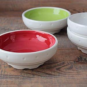 Mehrzweckschalen-Set - Handgefertigte Keramik, Erhältlich in weiteren Farben, Mechanisches Design (H 3,5 x Durchmesser 10,7 cm)
