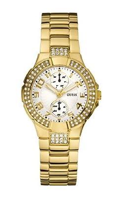 Guess MINI PRISM W15072L1 de cuarzo para mujer, correa de acero inoxidable color dorado