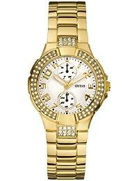Guess MINI PRISM W15072L1 - Reloj analógico de cuarzo para mujer, correa de acero inoxidable color dorado