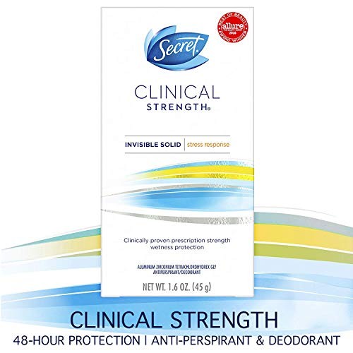 Secret Clinical Strength Invisible Solid Women's Antiperspirant and Deodorant Stress Response, 1.6 Ounce by Secret - Secret Anti-perspirant