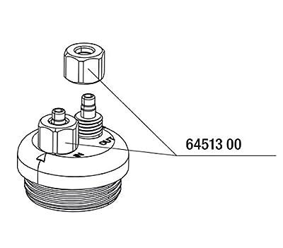 JBL Überwurfmutter Luft/CO2-Schlauch (3x)