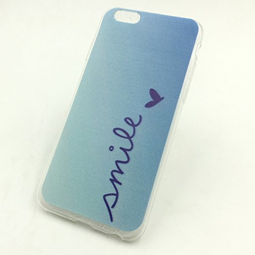 König-Shop Handy Hülle Cover Case Schutz Tasche Motiv Slim Silikon TPU Schale Bumper Etuis verschiedene Motive, Motiv:BÄR DONT TOUCH MY PHONE, Für Handy:Apple iPhone 6 / 6s (4.7 Zoll) SMILE BLAU