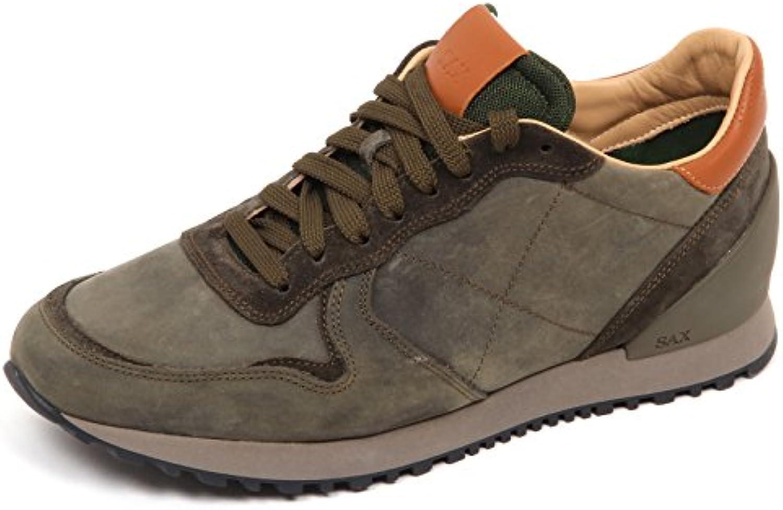 E4604 Sneaker uomo Green Sax Scarpe Vintage Effect Shoe Man
