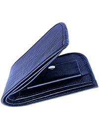 Top Grain Stylish Bi Fold Leather Wallet For Men (Black Curve)