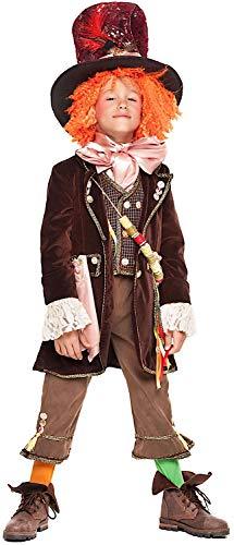 Costume di carnevale da cappellaio pazzo ragazzo vestito per ragazzo bambino 7-10 anni travestimento veneziano halloween cosplay festa party 28067 taglia 8/m