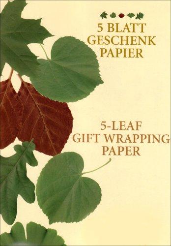 5 Blatt Geschenkpapier: Das Herbarium im Folioformat - Eichen-blatt 5