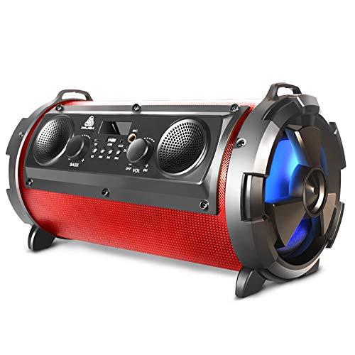 ZZWBOX Altavoz Bluetooth portatiles Energy sistem,Altavoces Estudio pc,Bluetooth Speaker Outdoor,Encendedor de Cigarrillos Gratis para el automóvil, Tarjeta de canción 4G,Red