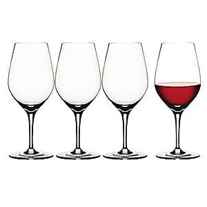 Spiegelau & Nachtmann - Authentis - Verres à vin et carafe à décanter, Tastingglas, Lot de 4