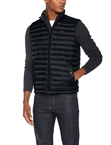 Tommy Hilfiger Herren Outdoor Weste LW Packable Down Vest, Schwarz (Jet Black 083), Small