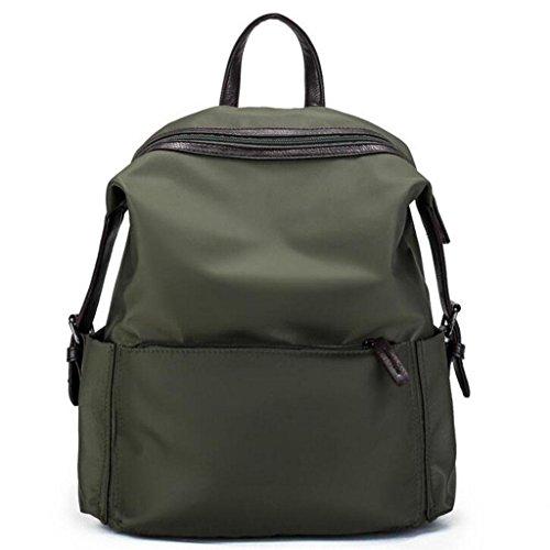 Y&F Frau Nylon Reiserucksack Rucksack Schultertaschen Handtasche Green